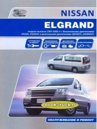 Руководство по ремонту и эксплуатации Nissan Elgrand с 1997 по 2002 год выпуска