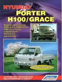Руководство по ремонту, инструкция по эксплуатации Hyundai H-100 / Porter / Grace с 1984 по 1999 год выпуска