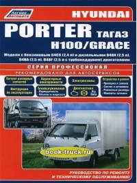 Руководство по ремонту, инструкция по эксплуатации Hyundai H-100 / Porter / Grace с 2005 по 2012 год выпуска