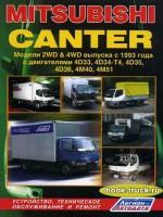 Руководство по ремонту и эксплуатации Mitsubishi Canter с 1993 года выпуска