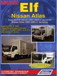 Руководство по ремонту и эксплуатации Isuzu Elf / N-Series / Nissan Atlas с 1993 года выпуска