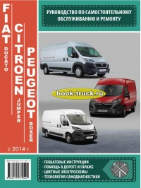 Руководство по ремонту и эксплуатации грузовика Fiat Ducato / Citroen Jumper / Peugeot Boxer с 2014 года выпуска