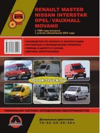 Руководство по ремонту и эксплуатации Renault Master / Opel Movano / Nissan Interstar с 1998 года выпуска