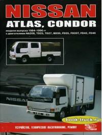 Руководство по ремонту и эксплуатации Nissan Atlas / Condor с 1984 по 1996 год выпуска