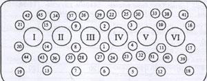 Болты крепления элементов блока цилиндра Weichai WD-615