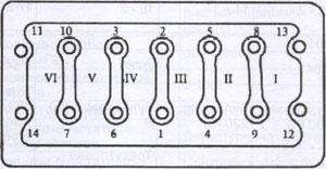 Болты кркпления подшипников коленчатого вала Weichai WD-615