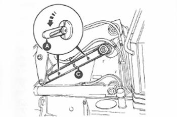 Фиксатор экскаватора-погрузчика JCB 3CX