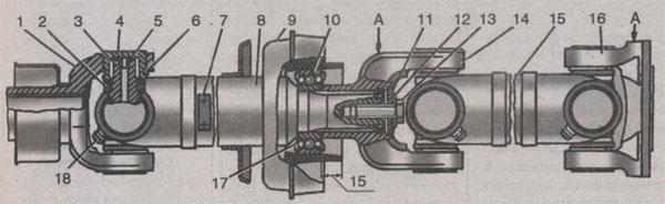 карданная передача ГАЗ 3302 ГАЗель, карданная передача ГАЗ 33021 ГАЗель