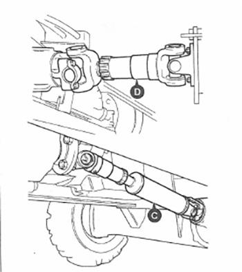 Карданный вал экскаватора-погрузчика JCB 3CX