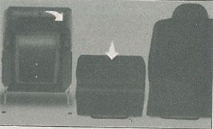 Сиденье, сложенное книжкой Peugeot Partner
