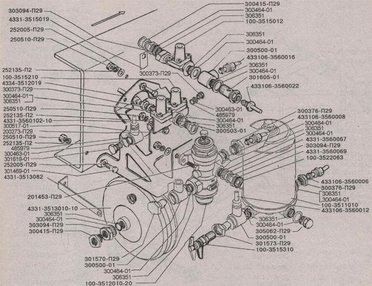 Контрольно-предохранительная аппаратура ЗиЛ 433360