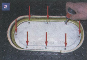 Крепления крышки люка ГАЗ 33021 ГАЗель