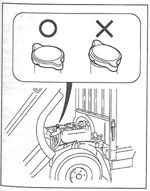 Крышка системы охлаждения двигателя Mitsubishi Fuso Canter