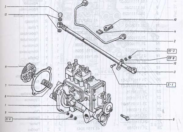 насос топливный с приводом Т-151К-08