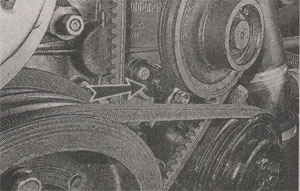 Передняя часть двигателя ГАЗ 3302