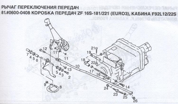 рычаг переключения передач MAN F90, рычаг переключения передач MAN F2000