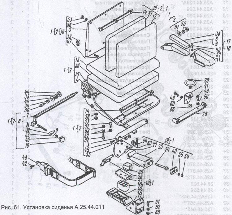 Схама установки сиденья Т-25