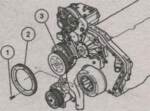 Шкив поликлинового ремня генератора Volkswagen LT 28