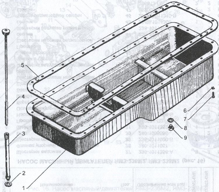 картер масляного двигателя ЯМЗ 236М2