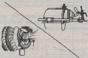 угол наклона тормозной системы Isuzu Elf