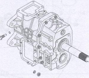 Упорный болт вилки включения передач JAC 1020