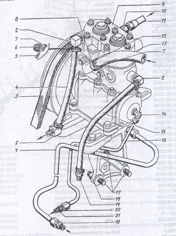 установка компрессора ЗиЛ 130