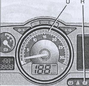красная линия тахометра Renault Premium DXi